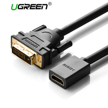 Ugreen DVI 24+1 DVI-D Male to HDMI Female Converter HDMI to DVI M-F adapter convertor Support 1080P for HDTV LCD Free Shipping(China)