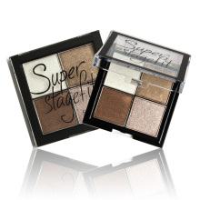 Sugarbox Eyeshadow Powder Metallic Shimmer Warm Color Mineralized Pigment Eyeshadow Baked Makeup 4 Color 1PCS