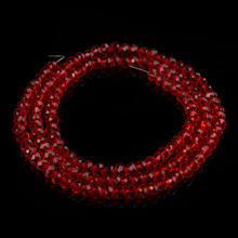 2strand/lot 4/6/8mm red glass faceted crystal beads spacer beading diy jewelry findings F2304