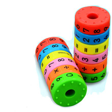 1pc,Magnetic Mathematics Numerals Cylinder Learning Toy(China)