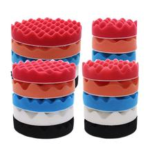 5pcs 4inch/5inch/6inch/7inch Soft Wave Foam Sponge Pad Polishing Wheel Sponge Ball Buffing Pads Kit Set For Car Polisher(China)