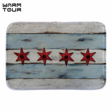 Buy WARM TOUR Chicago Flag Wall Art Doormat Soft Lightness Home Door Mats Indoor Outdoor Short Plush Fabric Bathroom Rug Floor Mat for $11.73 in AliExpress store