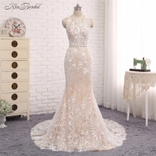 Modest Cheap Wedding Dresses 2017 Sweetheart robe de mariage Sash Crystal Court Train vestido de noiva Button Back Bridal Gowns
