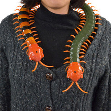 Very Cool Remote Control simulation Giant IR Scolopendra Halloween Simulation centipede Tricky Scary Toy Prank Gift Model(China)