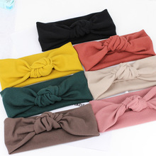 Women's Headwrap , Solid color Knot Turban headband for Yoga, Running , Girls Hair Accessories(China)