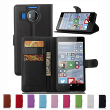 For Nokia Microsoft Lumia 950 XL 950XL 5.7'' Wallet Flip PU Leather Case Card Holder Smart Stand Protective Cover Fashion New