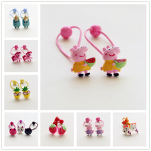 Creative Resin Cartoon Owl Cat Rabbit Elastic Hair Band Girls Accessories Kids Headdress Baby Headwear Children Hair Ropes