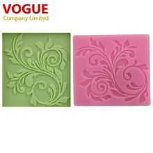 nice lace Silicone Impressing Mold Mat Fondant Cake Sugar Mould cooking tools Flower Decorating Tools DIY moulds molds N1790