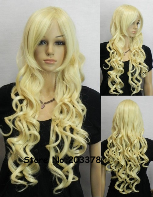 Harajuku Perruque Assassination Classroom Irina Yelabiqi Long Blonde Yellow Anime Cosplay Wig Synthetic Hair Costom Wigs<br><br>Aliexpress