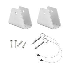 "MARINE BOAT BIMINI TOP FITTING DECK HINGE 1"" Square,Jaw slide Suit for Square Tubes bimini top(China)"
