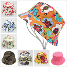 30 design Children girls floppy beach sun caps snapback baby boy bucket hat canvas kids fashion hip hop bonnet hats Drop