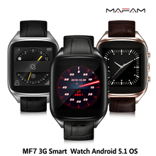 MAFAM MF7 Android Smartwatch IP67 waterproof 600mAh Bluetooth 4.0 WiFi GPS 1.3GHz 1G/8G 3G SIM Card Smart Watch phone Heart Rate