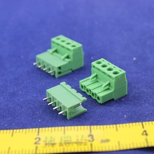 Free shipping 10 sets ht5.08 4pin  Terminal plug type 300V 10A 5.08mm pitch connector pcb screw terminal block
