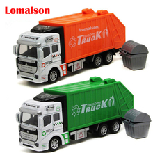 kids toy cars truck popular car model toys for children green orange toy garbage truck model car diecast  free shipping