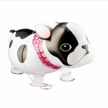 Cute Cartoon Animal Walking Bull Dog Helium Foil Balloon Aluminum Balloon Birthday Party Supplies Great Birthday Gift for Kids(China)