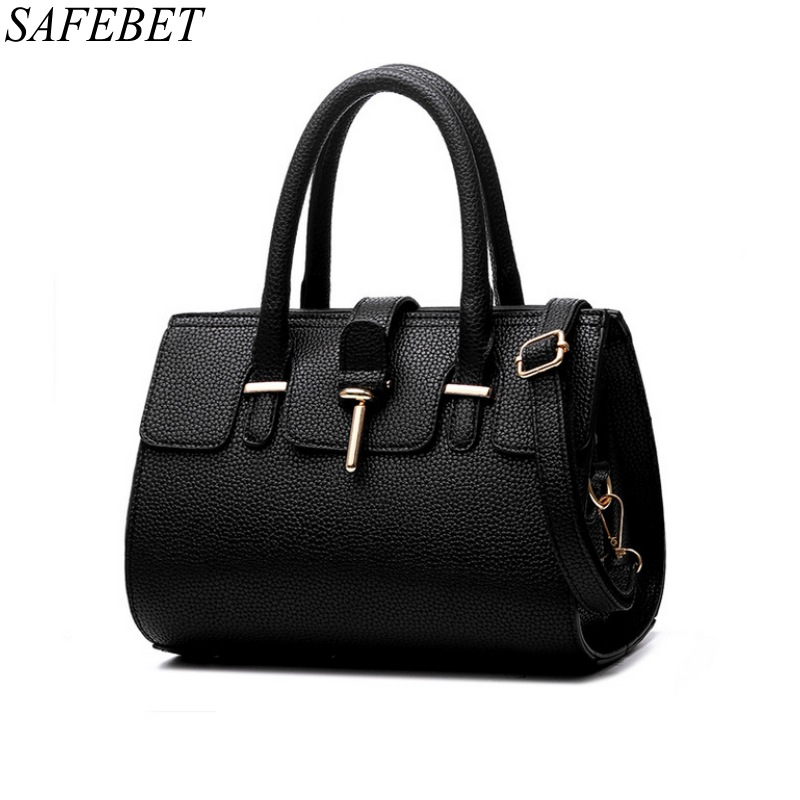 SAFEBET Brand 2017 Luxury Women Handbag High Quality PU Leather Top-handle Tote Elegant Lady Shoulder Bags Messenger Bags<br>