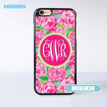 MINIKIN Hot Pink Rose Pattern Cell Phone Protective Case For iPhone 7 7 Plus 6 6S Plus SE 5 5S 5C 4 4S(China)
