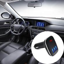 Car Bluetooth Music MP3 Player Hand-Free Card Machine Dual USB Charger Usb Player Audio For Smartphone Car Styling Bluetooth Kit(China)