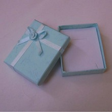 Wholesale 24pcs/lot 7*8cm light blue Jewelry Sets Display Box Cardboard Necklace Earrings Ring Box Display Packaging Gift Box