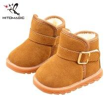 HITOMAGIC Snowshoes Children Felt Shoes Girls Boys Winter Boots Children's Winter Shoes Girls Kids Boy Plush Snow Boot