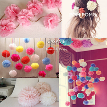 party 15pcs 4,6,8 inches 10cm 15cm 20cm Tissue Paper Pom Poms Paper Flowers Ball pompom wedding Birthday Decoration Parties(China)