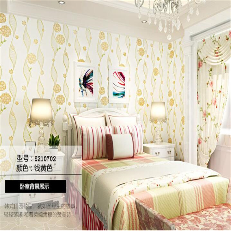 beibehang papel de parede 3d Korean big non woven sitting room bedroom Korean rural warmth wall paper wallpaper for walls 3d<br>