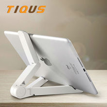 Universal Folded Desktop Tablet Bracket Cellphone Stand For ipad Air Mini For iphone 6 7 Plus Desk Holder Stand For Ipad Iphone(China)