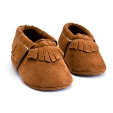 Unisex PU Suede Leather Newborn Baby Boy Girl Shoes Moccasins Tassels Non Slip Soft Soled Anti-slip First Walkers Crib Shoes(China)