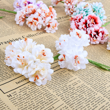 6pcs Fake Flower Silk Gradient Stamen Handmake Artificial Flower Bouquet Wedding Decoration DIY Wreath Gift Scrapbooking Craft(China)