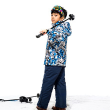Dropshipping New Kids Winter Ski and snowboarding Windproof Warm Ski Suits Children Set Snow Jacket + Pants For Boys 110-160cm
