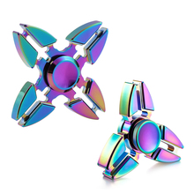 Colorful Crab Rainbow Fidget Spinner Metal Brass Finger Spinner Gradient Stress Spinner Hand Bearing Cheap Best Spiner(China)