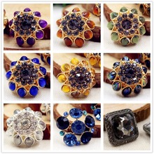 15510110 ,1 pcs, Acrylic Rhinestone Button Jewelry,flower patterns buttons, garment accessories DIY materials(China)
