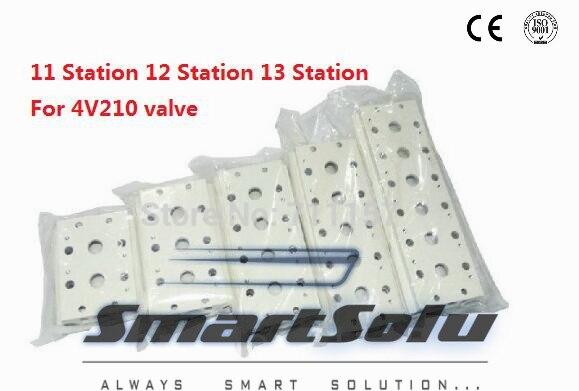 Free Shipping 4V210-08 Pneumatic Airtac Solenoid Valve Manifold / Base / Board 11 Station 12 Station 13 Station<br><br>Aliexpress