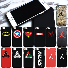 Luxury Brand Jordan Palace Marvel Hard case for iphone 6 6s Frosted PC Phone Cover for iphone 7 Plus 5s SE Capa Funda Coque