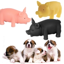 MISTEROLINA Dog Toys Chew Squeaker Rubber Pet Toys For Dogs Pet Supplies Squeaky Sound Screaming Pig For Pet 1 Pcs PAY9503(China)