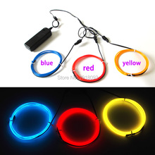 2017 Newest 2.3mm Custom Color 1M 3pieces flexible LED Strip Toys EL wire rope tube Trendy  glowing light for DIY Dance decor