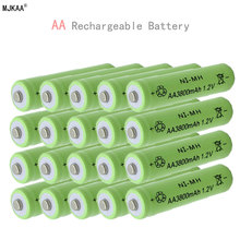 20pcs Ni-MH 1.2V AA Rechargeable 3800mAh 2A Neutral Battery Rechargeable battery AA batteries