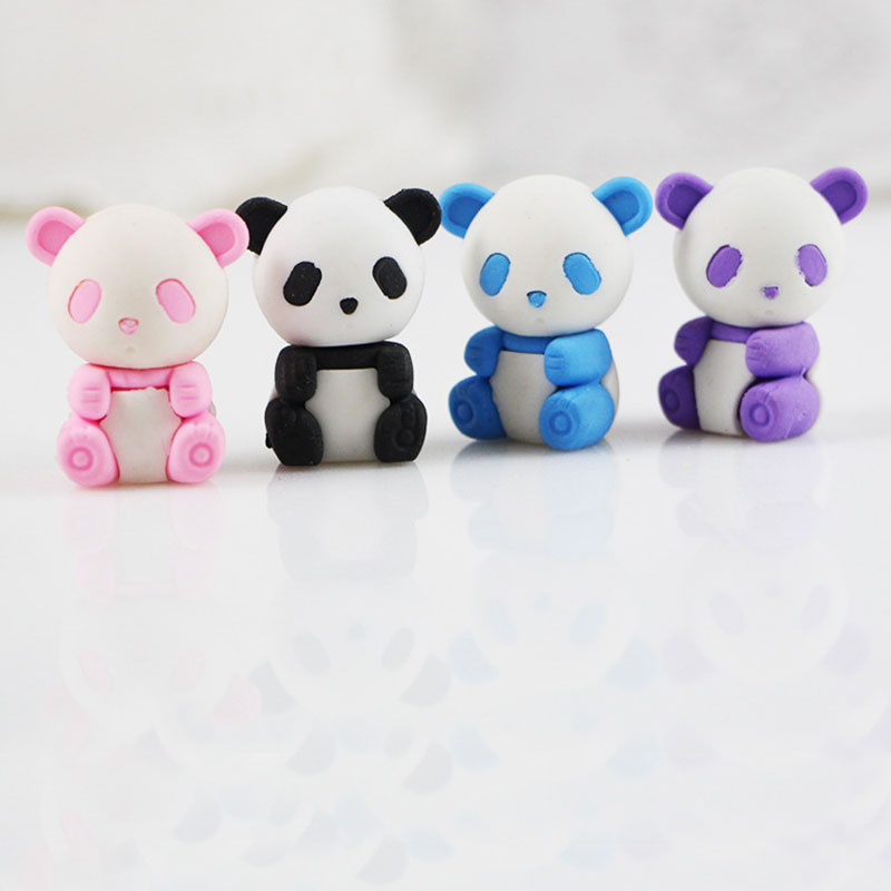 1 X Cute cartoon panda eraser Kawaii stationery school office supplies correction supplies childs toy gifts<br><br>Aliexpress