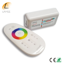 2017 NEW 2.4G LED RGB Controller Touch Remote Control DC12-24V For RGB LED Strip bulb downlight(China)