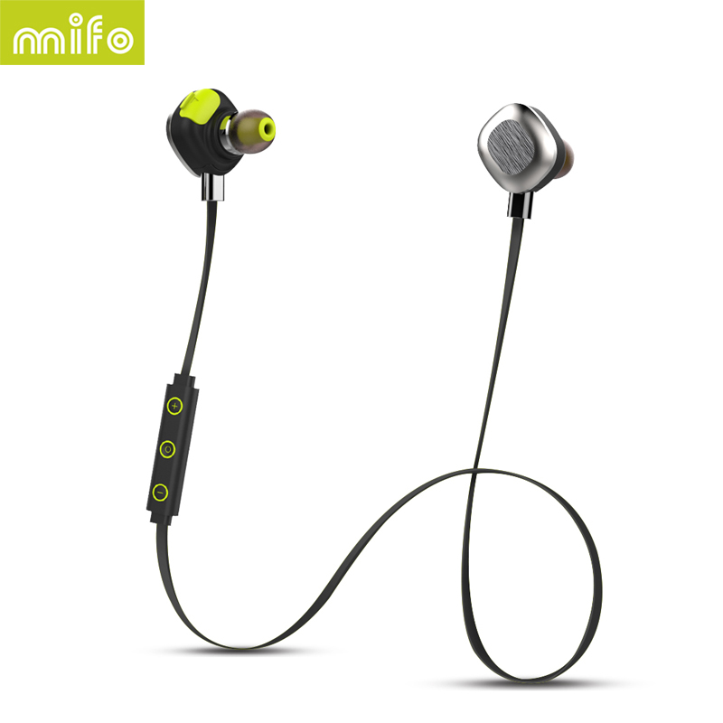 mifo U5 PLUS Waterproof Magnetic Wireless Bluetooth Headset Sport Bluetooth Headphones Stereo With Microphone for mobile phone<br>