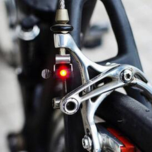 Hot Sell Portable Mini Brake Bike Light Mount Tail Rear Bicycle Light Cycling LED Light High Brightness Waterproof red LED lamp(China)