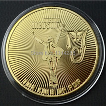 hot Michael Jackson king of Pop 1 oz 100 Mills 24k gold bullion Coin NEW 5pcs/lot,MJ 24KT Gold clad plated commemorative coin