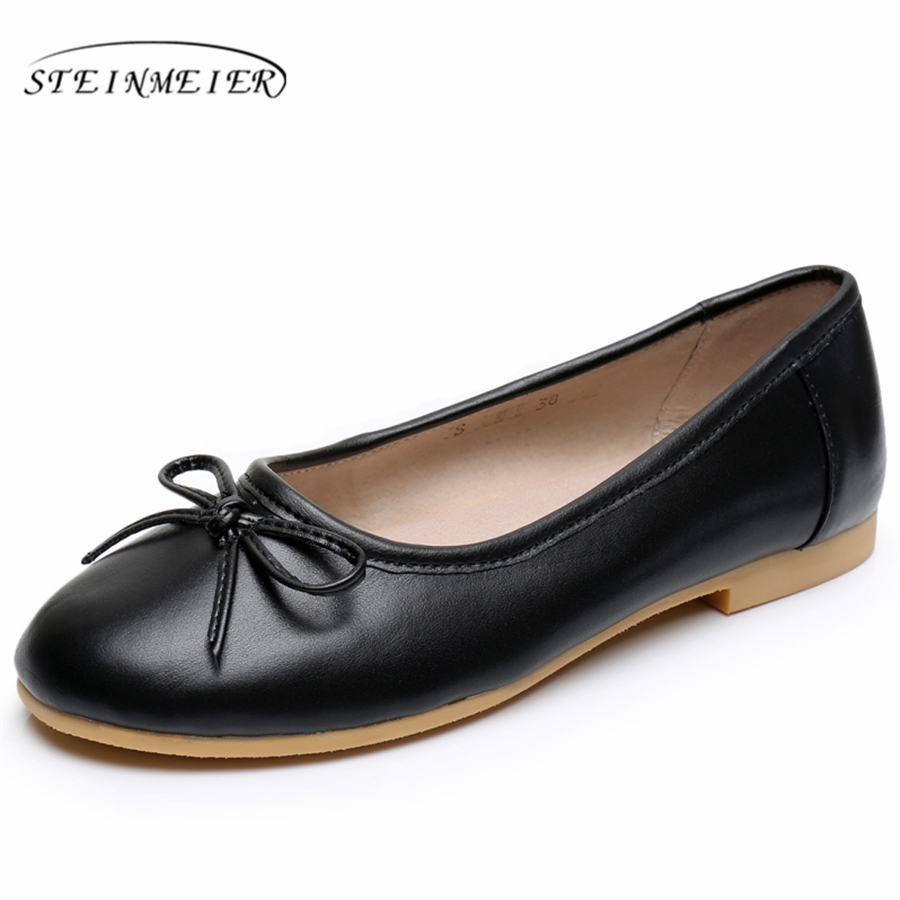 Cow leather big flat shoes women US size 9 handmade black red white sping vintage British style oxford shoes for women<br>