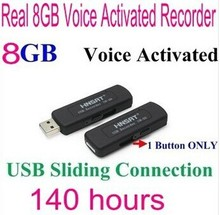 FreeShipping 09 8GB digital voice recorders Disk Digital Audio Voice Recorder One Button Voice Activated Sliding Connection