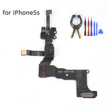 Front Camera Sensor Flex Cable for iphone 5S Repair Spare part Camera flex Cable replacement for iphone 5S Smart Phone Device(China)
