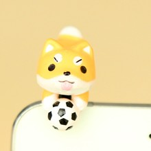 Cute Puppy Dog Series Yellow Dog Catch the Ball For Iphone and All 3.5mm universal Earphone Jack Dust Plug