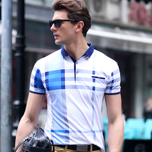Polo New 2017 Summer style Explosion Models Polo Shirt striped patchwork Casual Shirts high quality cotton shirts plus