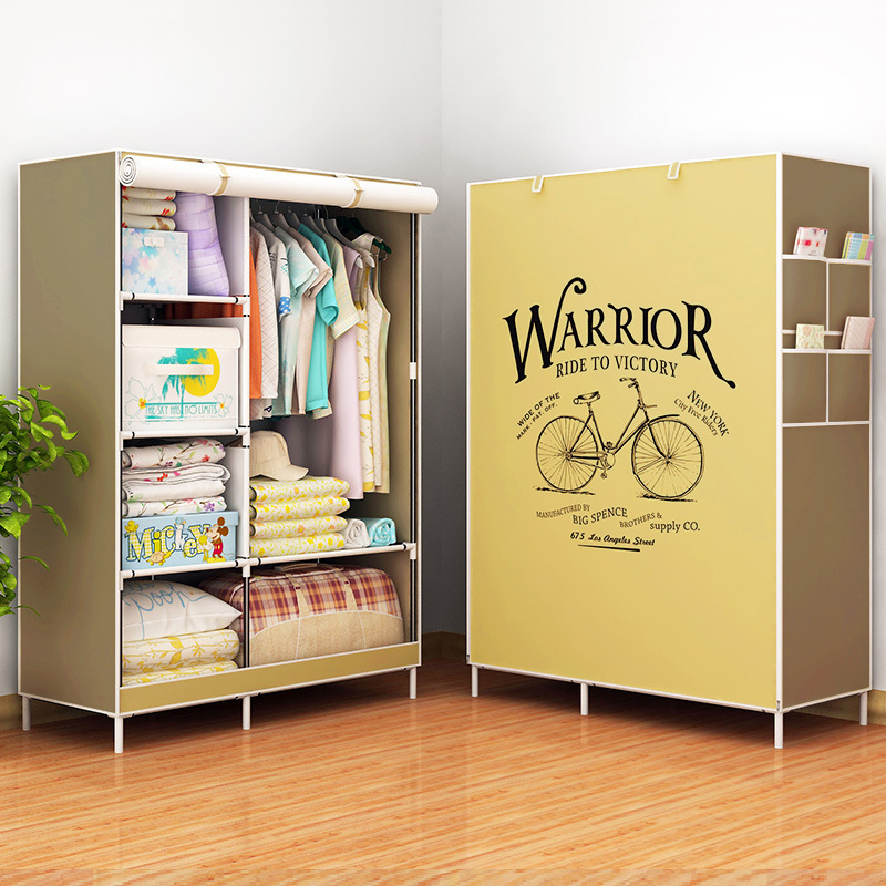 Fashion Modern Wardrobe Non-woven Fabric frame reinforcement DIY Assembly Storage Organizer Detachable Clothing furniture