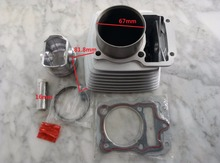 Air Cooling Cooled ZONGSHEN 67MM CG250 250CM3 Motorcycle Cylinder Kits With Piston And 16MM Pin
