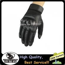 New Hot Sales Black Motorcycle Leather Gloves Full Fingers Sparated Gloves for Motor Bikers Free Shipping(China)